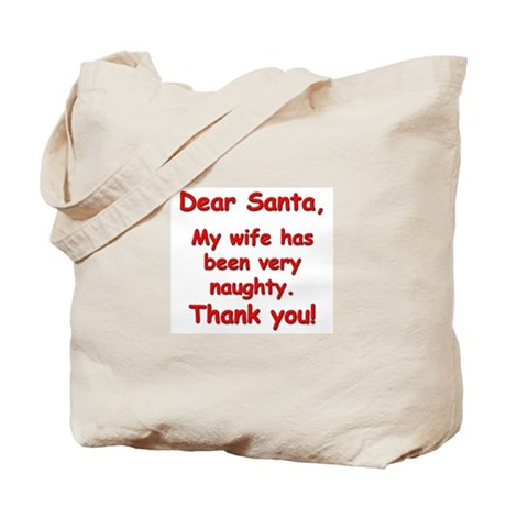 """""""Naughty Wife"""" (front & back) Tote Bag"""