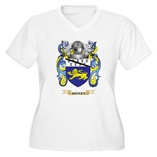 Hickey Coat of Arms (Family Crest) Plus Size T-Shi