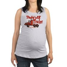 Daddys Lil' Trucker Maternity Tank Top