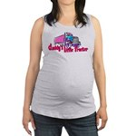 Daddy's Little Trucker Maternity Tank Top