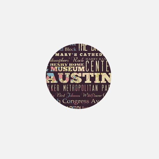 Austin Texas Mini Button