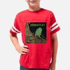 Cute Male parrotlet Youth Football Shirt
