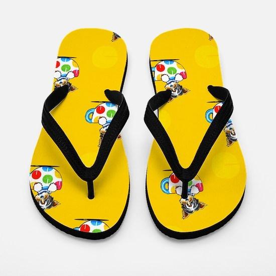 Biewer Yorkie Cup Yellow Flip Flops