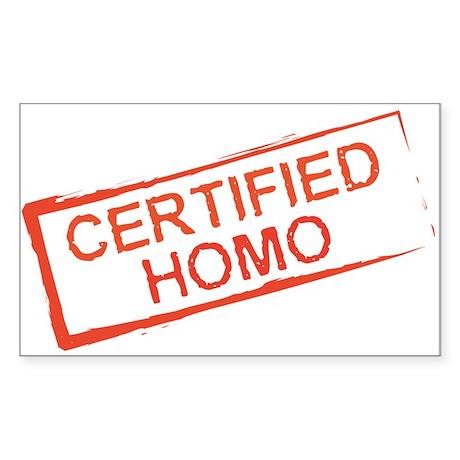 Certified Homo Rectangle Sticker