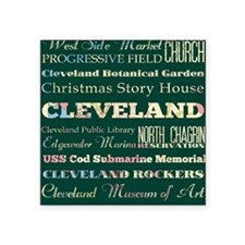 "Cleaveland poster Square Sticker 3"" x 3"""