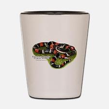 Eastern Ribbon Coral Snake Shot Glass