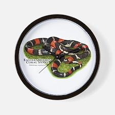 Eastern Ribbon Coral Snake Wall Clock