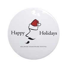 Cute Delaware shakespaere dsf delshakes holidays christ Ornament (Round)