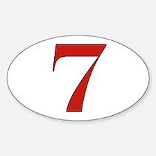 Lucky 7 Oval Decal
