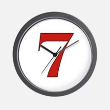 Lucky 7 Wall Clock
