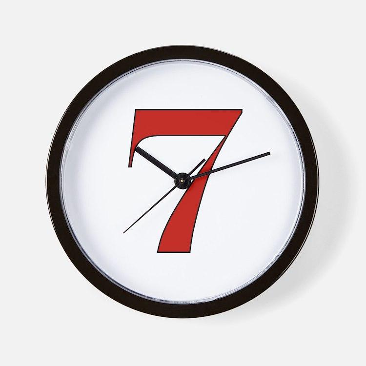 Lucky 7 Wall Clock