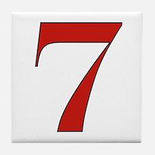 Lucky 7 Tile Coaster