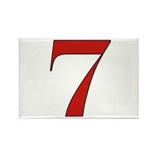 Lucky 7 Rectangle Magnet