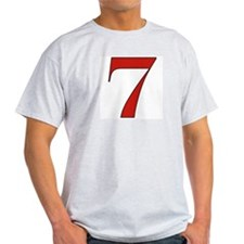 Lucky 7 Ash Grey T-Shirt