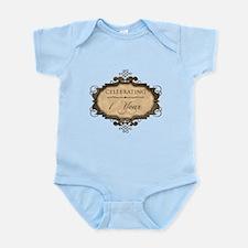 1st Wedding Aniversary (Rustic) Infant Bodysuit