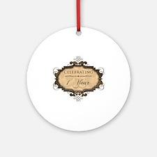 1st Wedding Aniversary (Rustic) Ornament (Round)