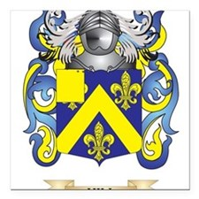 Hill Coat of Arms (Family Crest) Square Car Magnet