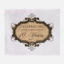 10th Wedding Aniversary (Rustic) Throw Blanket