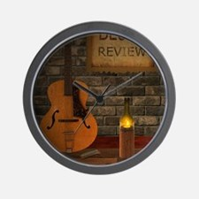 Blues Review Wall Clock