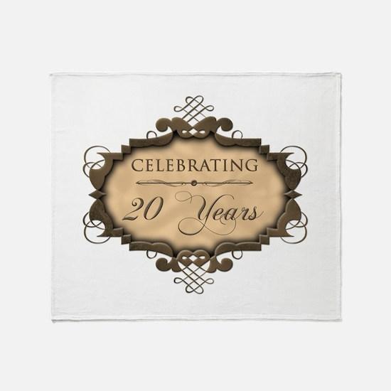 20th Wedding Aniversary (Rustic) Throw Blanket