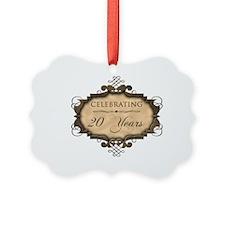 20th Wedding Aniversary (Rustic) Ornament