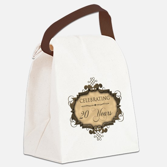 20th Wedding Aniversary (Rustic) Canvas Lunch Bag