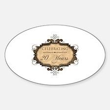 20th Wedding Aniversary (Rustic) Decal