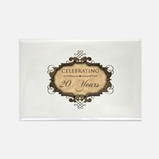 20th Wedding Aniversary (Rustic) Rectangle Magnet