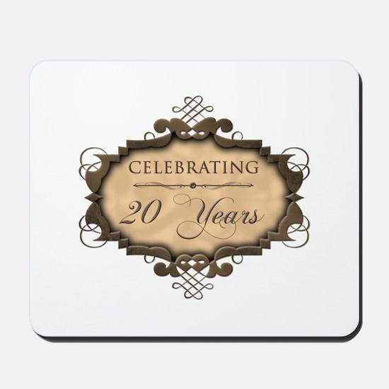 20th Wedding Aniversary (Rustic) Mousepad