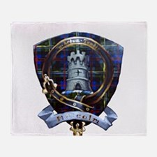 Clan Malcolm Crest Throw Blanket