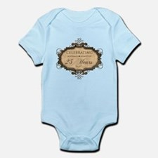 25th Wedding Aniversary (Rustic) Infant Bodysuit