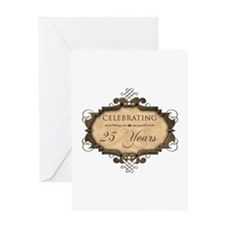 25th Wedding Aniversary (Rustic) Greeting Card
