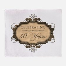 30th Wedding Aniversary (Rustic) Throw Blanket