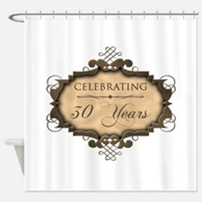 30th Wedding Aniversary (Rustic) Shower Curtain