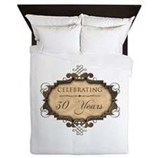 30th Wedding Aniversary (Rustic) Queen Duvet