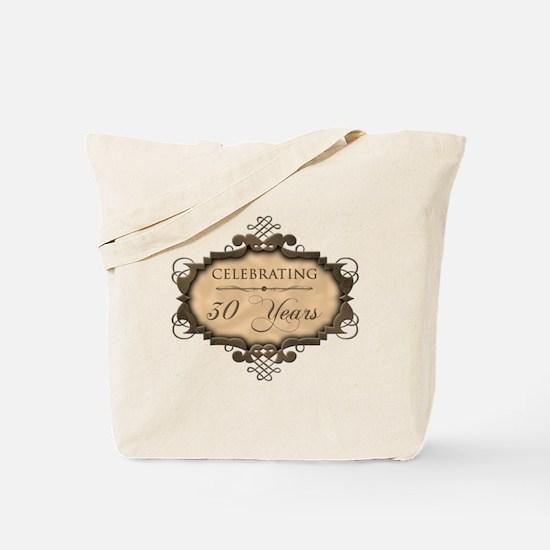 30th Wedding Aniversary (Rustic) Tote Bag