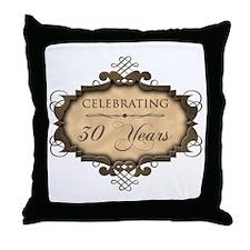 30th Wedding Aniversary (Rustic) Throw Pillow