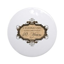 30th Wedding Aniversary (Rustic) Ornament (Round)