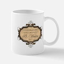 40th Wedding Aniversary (Rustic) Mug