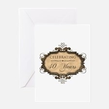 40th Wedding Aniversary (Rustic) Greeting Card