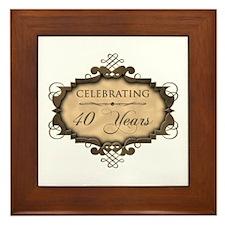 40th Wedding Aniversary (Rustic) Framed Tile