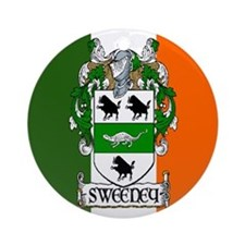Sweeney Arms Flag Ornament (Round)