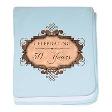 50th Wedding Aniversary (Rustic) baby blanket