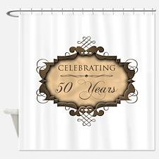 50th Wedding Aniversary (Rustic) Shower Curtain