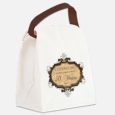 50th Wedding Aniversary (Rustic) Canvas Lunch Bag