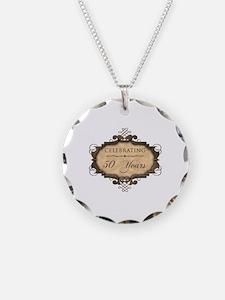50th Wedding Aniversary (Rustic) Necklace