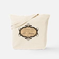 50th Wedding Aniversary (Rustic) Tote Bag