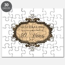 50th Wedding Aniversary (Rustic) Puzzle