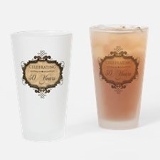 50th Wedding Aniversary (Rustic) Drinking Glass