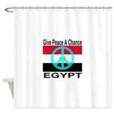 Egypt Give Peace A Chance Shower Curtain